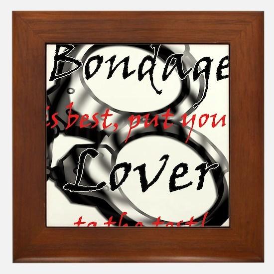 Bondage is Best Framed Tile