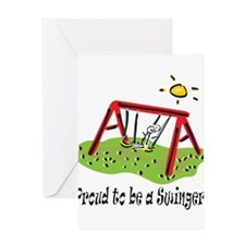 Proud to be a Swinger! Greeting Card