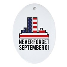 9 11 Never Forget Ornament (Oval)
