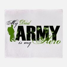 Dad Hero3 - ARMY Throw Blanket