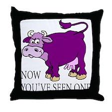 Purple Cow Throw Pillow