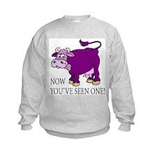 Purple Cow Sweatshirt
