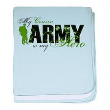 Cousin Hero3 - ARMY baby blanket