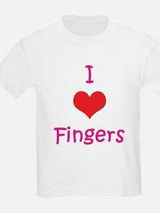 I Love (heart) Fingers T-Shirt