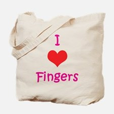I Love (heart) Fingers Tote Bag