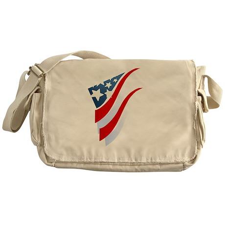 Stripes N Stars Messenger Bag