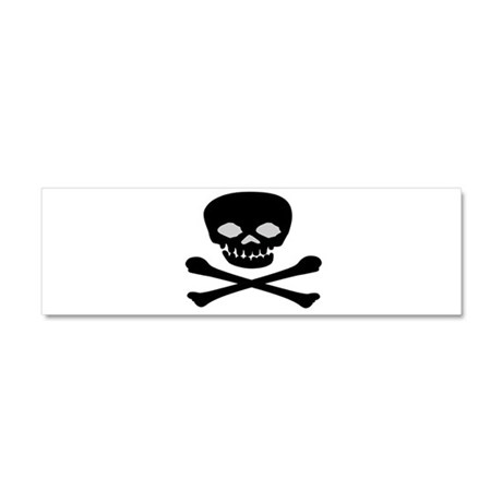 Black Skull and Crossbones Car Magnet 10 x 3