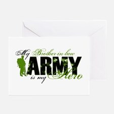 Brother-in-law Hero3 - ARMY Greeting Cards (Pk of