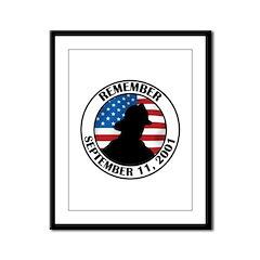Remember 9 11 Framed Panel Print