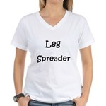 Leg Spreader Women's V-Neck T-Shirt