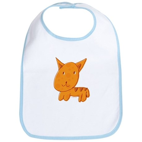 Orange Kitty Bib