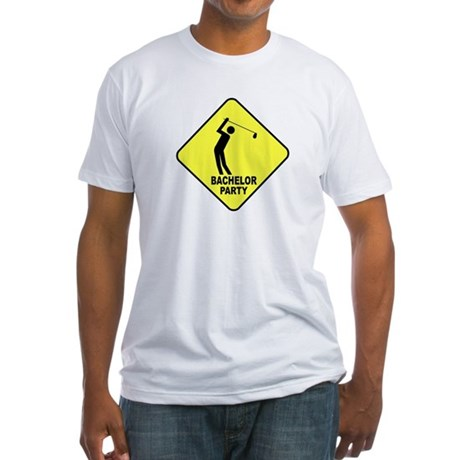 Bachelor Golf Party Fitted T-Shirt