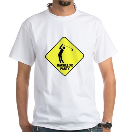 Bachelor Golf Party White T-Shirt (to 4X)