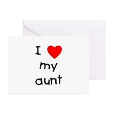 I love my aunt Greeting Cards (Pk of 10)