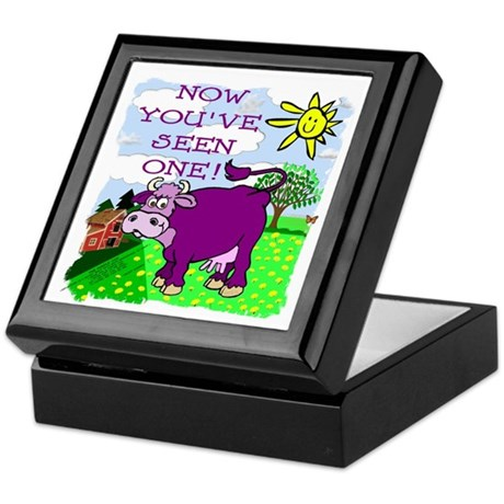 Purple Cow / Farm Keepsake Box