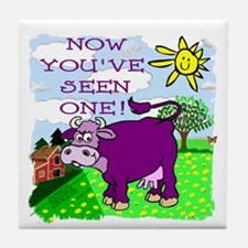 Purple Cow / Farm Tile Coaster