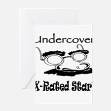 Undercover X-Rated Star Greeting Card
