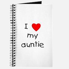 I love my auntie Journal