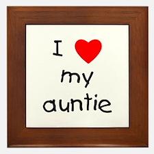 I love my auntie Framed Tile