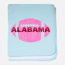Alabama Football Pink baby blanket