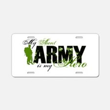Aunt Hero3 - ARMY Aluminum License Plate