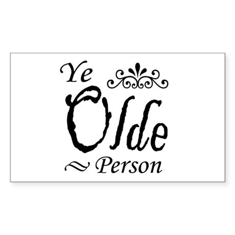 'Ye Olde Person' Rectangle Sticker