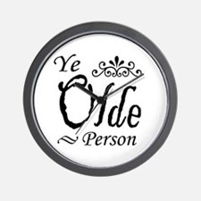 'Ye Olde Person' Wall Clock