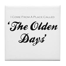 'Olden Days' Tile Coaster