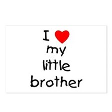 I love my little brother Postcards (Package of 8)