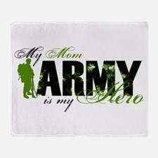 Mom Hero3 - ARMY Throw Blanket