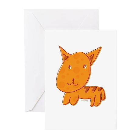 Orange Kitty Greeting Cards (Pk of 10)