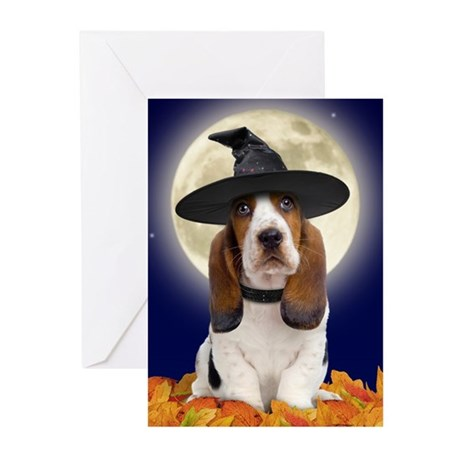Basset Hound Halloween Greeting Cards (Pk of 20)