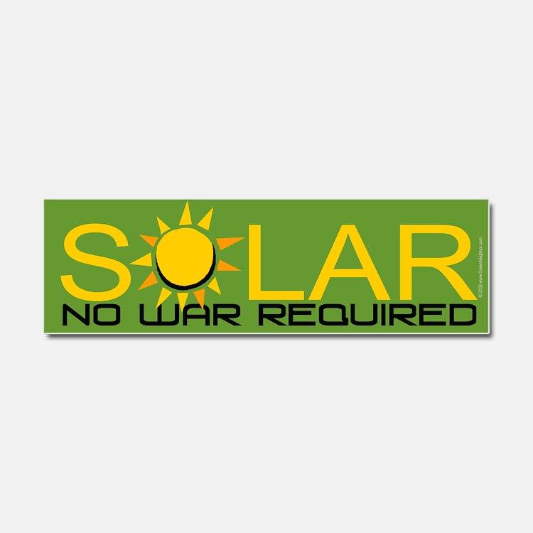 Solar - No War Car Magnet 10 x 3