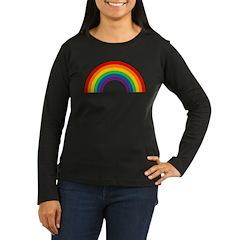 Retro Rainbow Women's Long Sleeve Dark T-Shirt