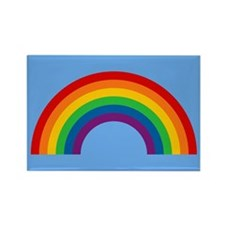 Retro Rainbow Rectangle Magnet