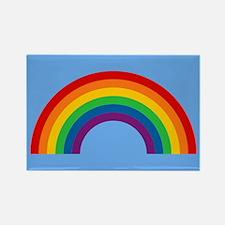 Retro Rainbow Rectangle Magnet