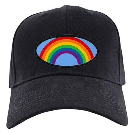 Retro Rainbow Black Cap