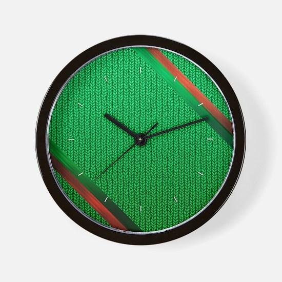 Green Christmas Sweater Wall Clock