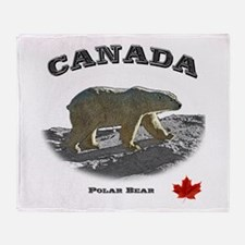 Canada - the Polar Bear Throw Blanket