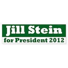 Jill Stein President 2012 bumper sticker