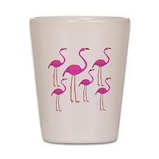 Flamingos Shot Glass