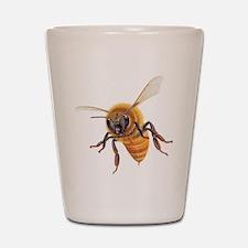 Bee in flight Shot Glass