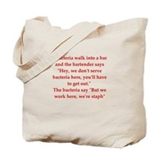 funny science joke Tote Bag