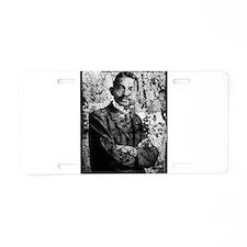 Young Gandhi - Old, Worn Photo Aluminum License Pl