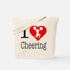 I Love Cheering Tote Bag