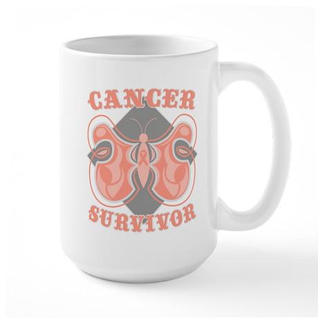 Uterine Cancer Survivor Large Mug