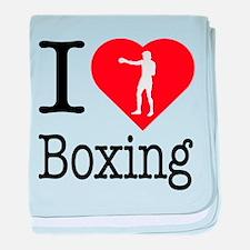 I Love Boxing baby blanket