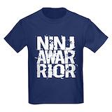 Ninja warrior Kids T-shirts (Dark)