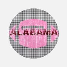 "Alabama Football Pink & Houndstooth 3.5"" Button"