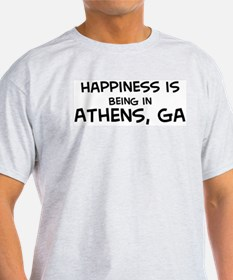 Happiness is Athens Ash Grey T-Shirt